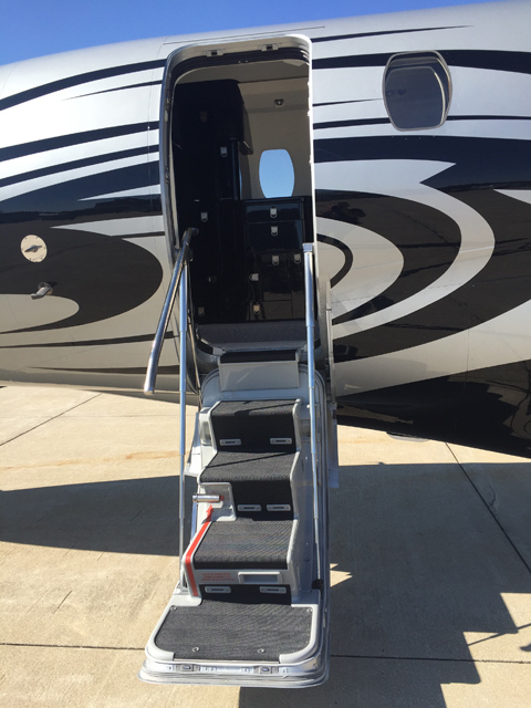 picture of the stairs open and welcoming on our Citation X