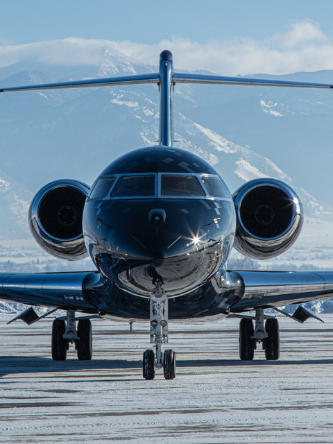 picture of aircraft exterior from front